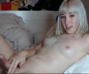 29:33 , Cute blonde Femboy with natural Tits