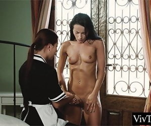 13:35 , Asian maid has lesbian sex with her boss