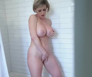 5:36 , Spying stepson caught a horny prexy MILF stepmom alone