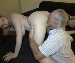 28:53 , American Big Blow Grandpa Old Pussy Red Redhead Saggy Teen