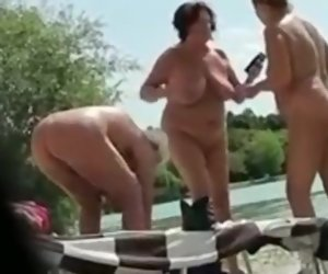 4:39 , Amateur Granny Mature Nudist Outdoor Voyeur