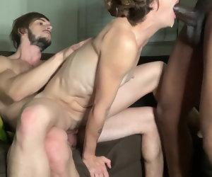 4:22 , Cuckold party with hubby with an increment of BBC