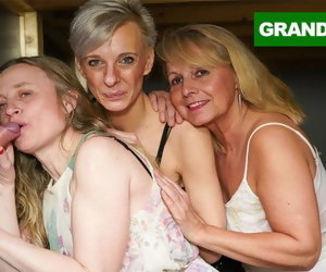 10:19 , Triple Blonde Granny Orgy