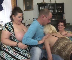 6:15 , Busty of age MOMs attack lucky boy