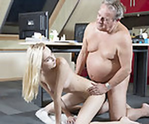 6:38 , Young Ancient porn Martha gives grandpa a drenched blowjob