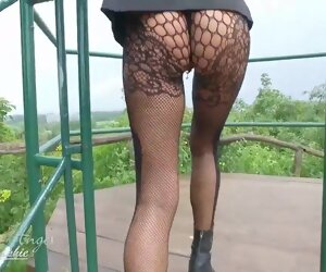 9:14 , Close Milf Outdoor Park Piercing Public Shaved Skirt Small