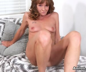 7:59 , Heels High Lingerie Mature Milf Red Small Solo Tits