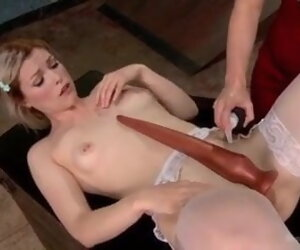 4:00 , Ass Dildo Extreme Insertion Long