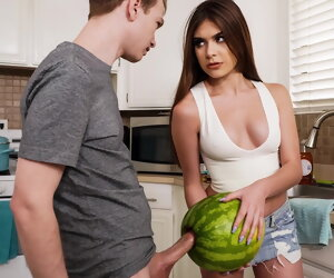 8:43 , StepSister Caught   Fellow-man Masturbating With A Watermelon