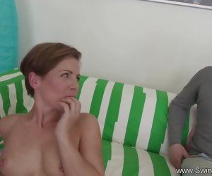 8:01 , Short Hair Swinger Wife Cuckold Sex