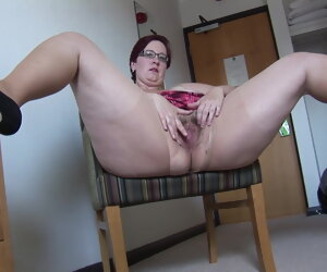 3:03 , Sprightly Mature BBW nigh mini skirt rips her pantyhose and spreads