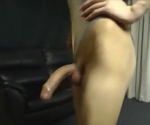 1:00 , Pretty asian crossdresser shegurl with yummy cock