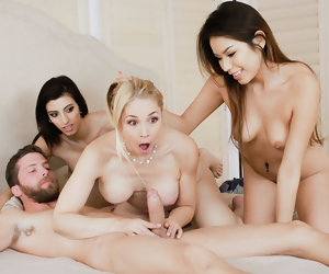 12:20 , FamilyStrokes- Naughty Teens Blackmail MILF Into Fucking
