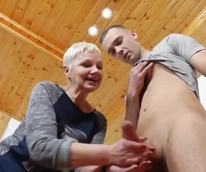 28:02 , Tow-headed mature teacher is resembling tits during a private category and..