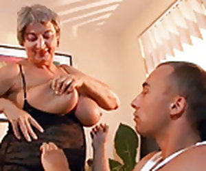8:00 , Busty Granny Seduces Young Guy With Her Big Tits