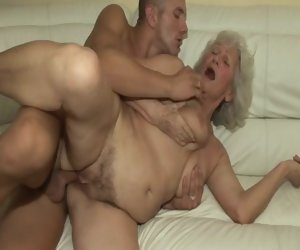 12:00 , Granny fucked by young neighbor