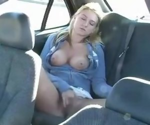 9:54 , Disgorge Masturbation In Rub-down the Car