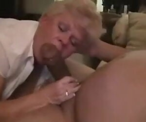 1:52 , Grandma's Neighbor Laughs When He Cums Less Her Mouth