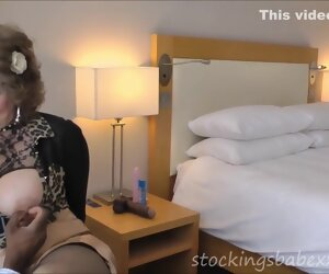 15:02 , Horny grandma felling her hole with a BBC