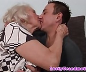 6:15 , Hairy granny pussyfucked in closeup