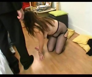 6:41 , French BBW Emilie gangbanged