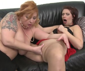 6:15 , Hot MOMs lick and lady-love each other