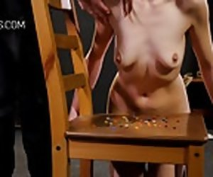 4:23 , Cruel boob whipping for redhead