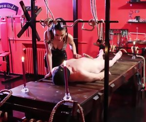 17:35 , Lasting sadistic whipping unconnected with cruel brunette dominatrix