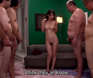 5:06 , Tease Asian Censored Group Japanese Milf Red Strip