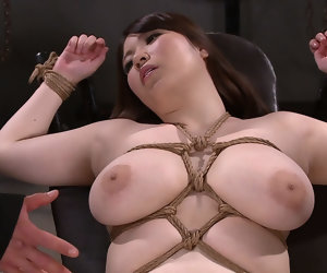 6:59 , Chitose Saegusa hither Chitose Gets Her Huge Chest Tied - MilfsInJapan