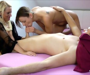 9:07 , Daughter snowy Stepmom nearby their way BF and Joins For A Threesome, German