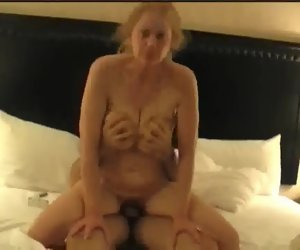 1:13:22 , Insatiable nympho wife fucks a young cock coupled with loves it