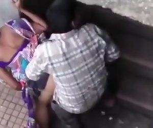1:03 , Public doggystyle quickie at hand an Indian girl