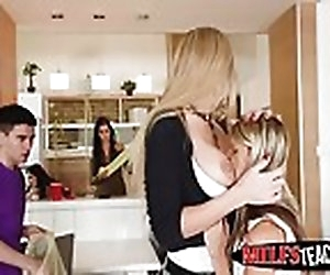 12:00 , Hot teen Gina Gerson and MILF Kayla Green pounded at the end of one's tether..