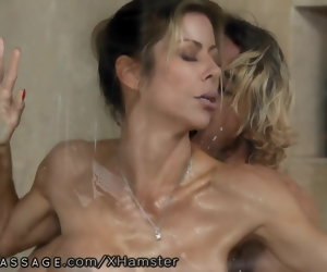 7:31 , Son Mishandle Step-Mommy Alexis Fawx Lively at Nuru Massage!