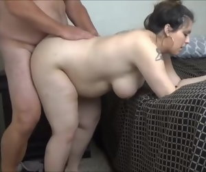 7:14 , Ana 9 months pregnant creampie