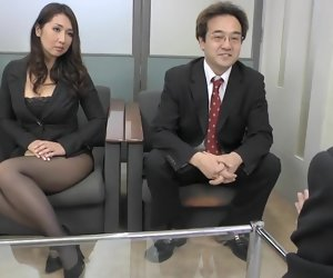 54:04 , Alluring Jap old bag needs cock in the office