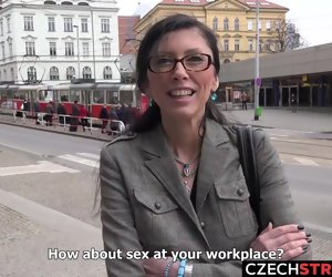 9:42 , Czech MILF Secretary Pickup up and Fucked