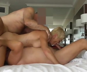 59:28 , Direct mature MMF three way, sexy daddy, MILF action, grampa