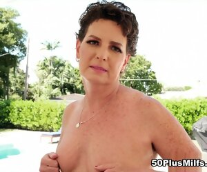 5:20 , Brunette Hairy Heels High Mature Milf Outdoor Pool Small